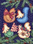 CC117- More Funky Christmas Chickens Ornaments